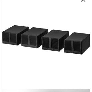 4 Shoe boxes -black